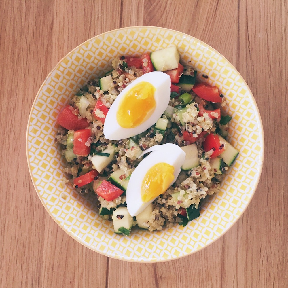quinoa egg salad | the reluctant cook