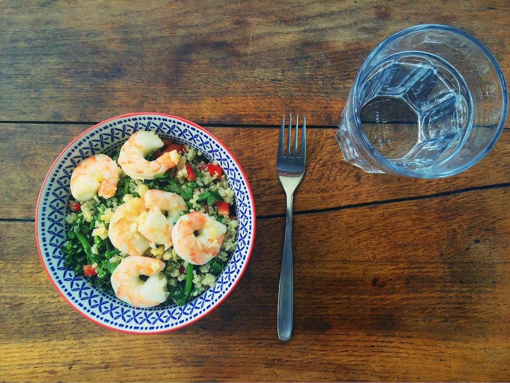 quinoa with shrimp | the reluctant cook