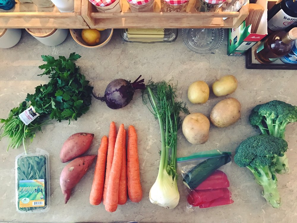 all the vegetables from my fridge | the reluctant cook
