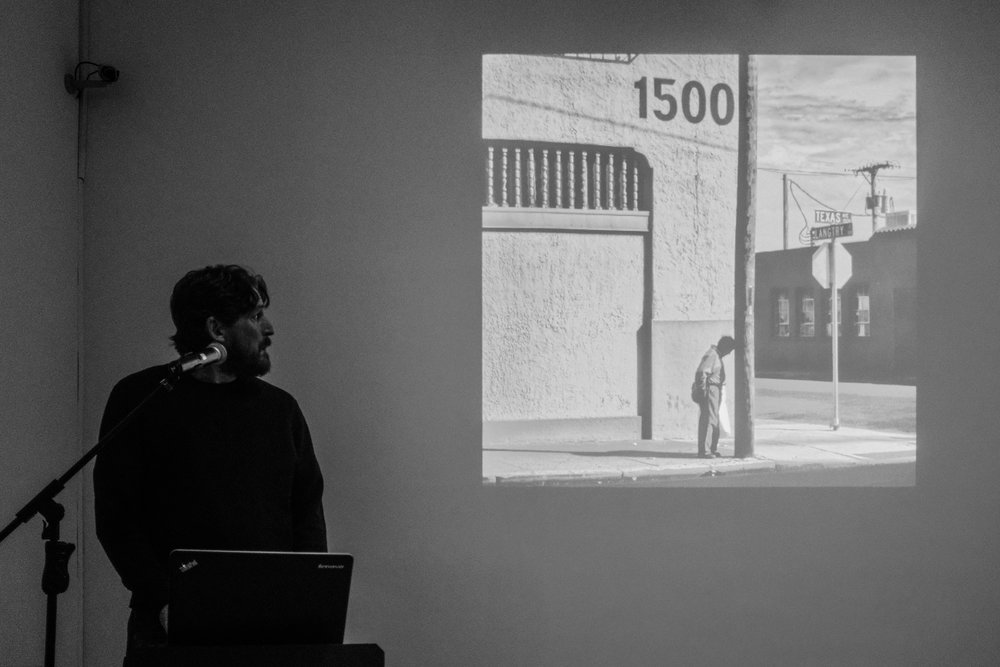 Matt Black presenting his work during Magnum Workshop in Budapest /Zlatko Vickovic@ all right reserved