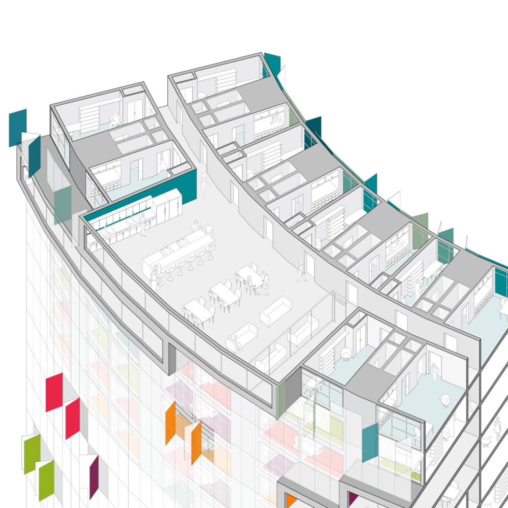 Typical Floor Plan Axo