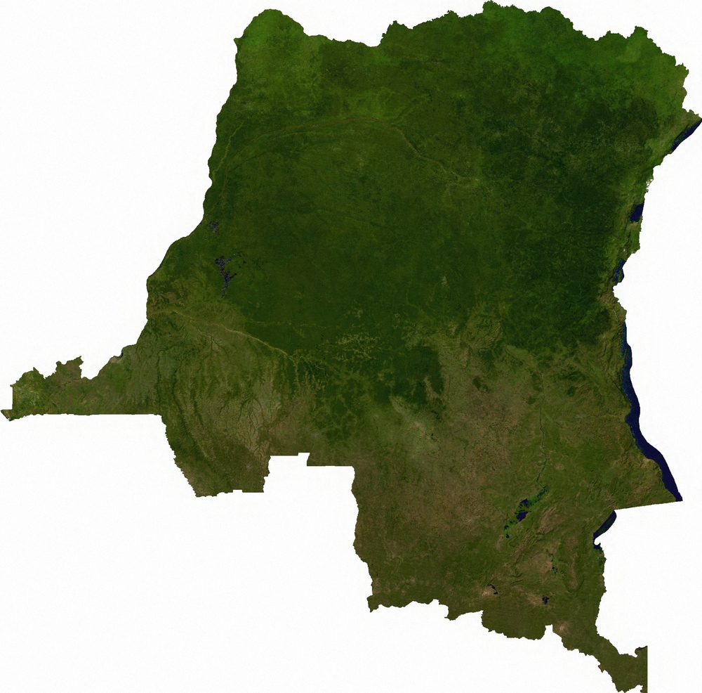Satellite image of the DRC.
