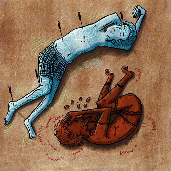 John Carvajal Illustration: Chronic Pain & Acupuncture