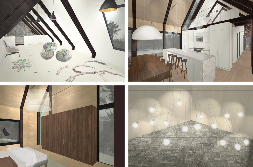 Mountain House - Colored Interior Renderings