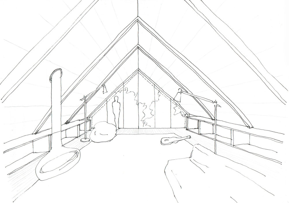 Carriage House Loft - Initial Sketch
