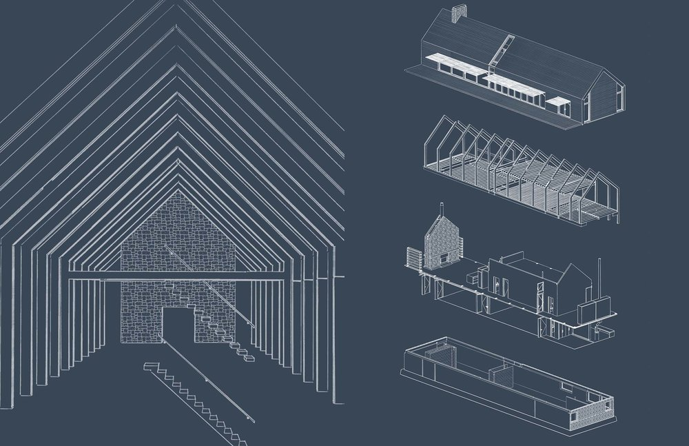 Mountain House - Structural Diagram & Exploded Axonometric