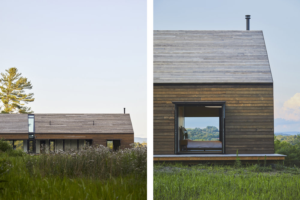 Local barn archetypes inspired the use of a timber rainscreen to the exterior walls and roof