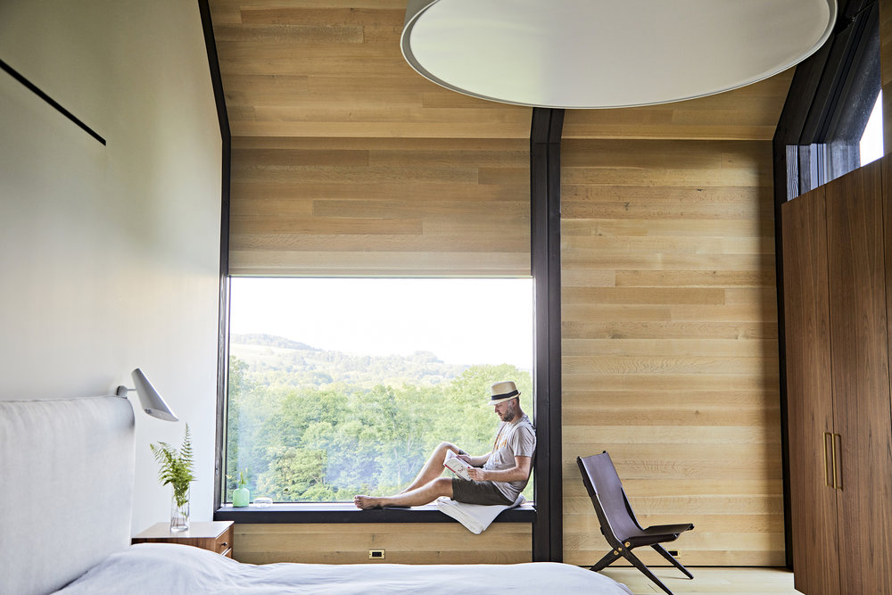 All Bedrooms feature window seats looking north towards the mountains, for reading and quiet contemplation