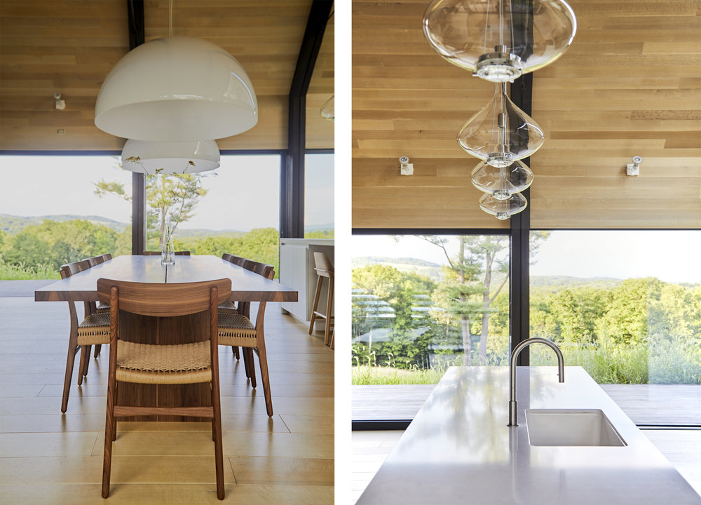 Pendants were carefully chosen and located in the large double-height living space to create functionally useful and beautiful symmetry lighting.