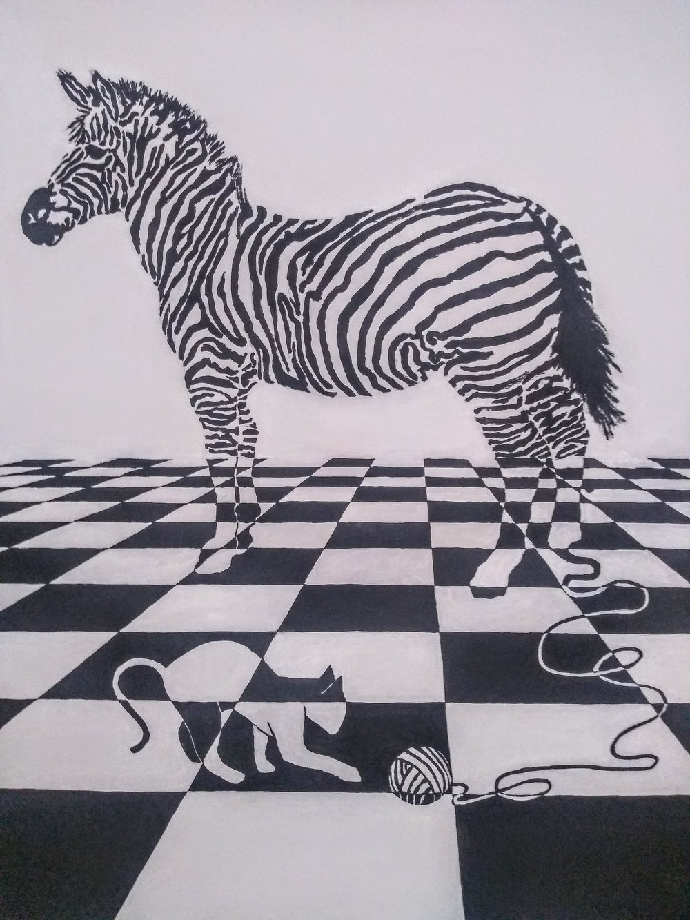 """From The """"ZEBRAPHIC"""" Series  DANGEROUS GAMES  60X90 cm (23X30 inches)"""
