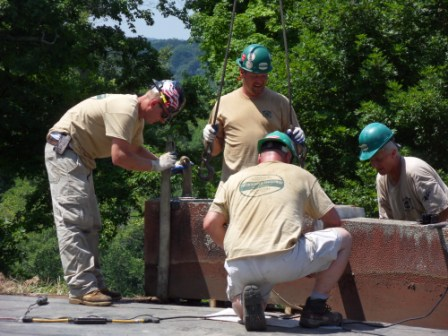 6 -Prepping Coping Stones to be Lifted.JPG