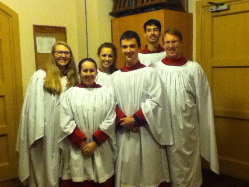 Members of LUCC after choral evensong at St Anne's