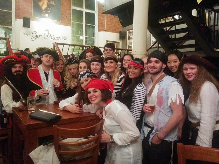 Fancy dress pirate bar crawl