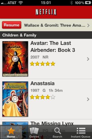 Netflix iOS Application - Home