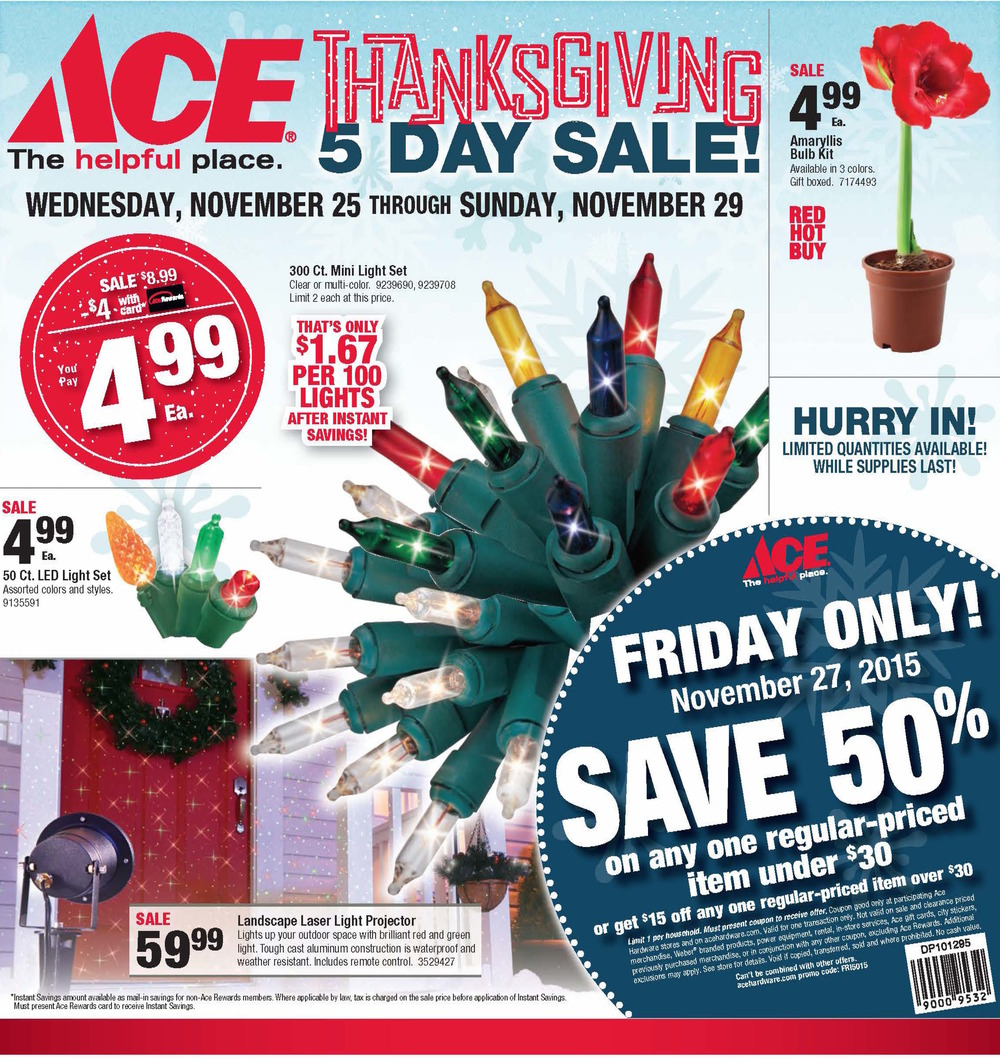 Thanksgiving 5-Day Sale