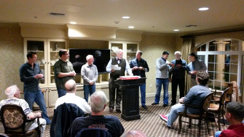Craig Hughes, FWD VP for the SE/SW Division, installs the new officers of the Temecula Chapter.