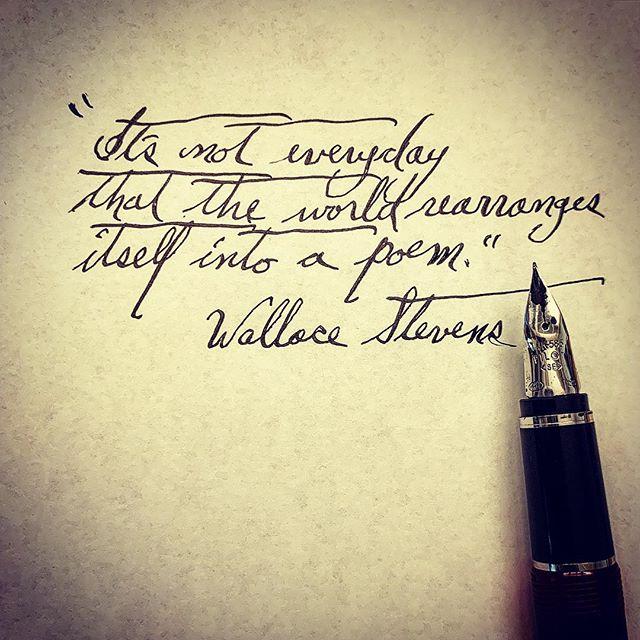 #ritsospoetry #poetryisart #warrenwilsonmfa #poetryischurch #fountainpen #cigaraficionado #iowawritersworkshop #instapoetry #spokenwordpoetry #literature #theworld #poem #wallacestevens #markstrand #poetryfoundation #deadpoetssociety #lovetoread #surrealistpoetry #cursive #diamineink #thewriterslife #modernpoetry #awp2019 #sarabandebooks @beckyfink #poetics