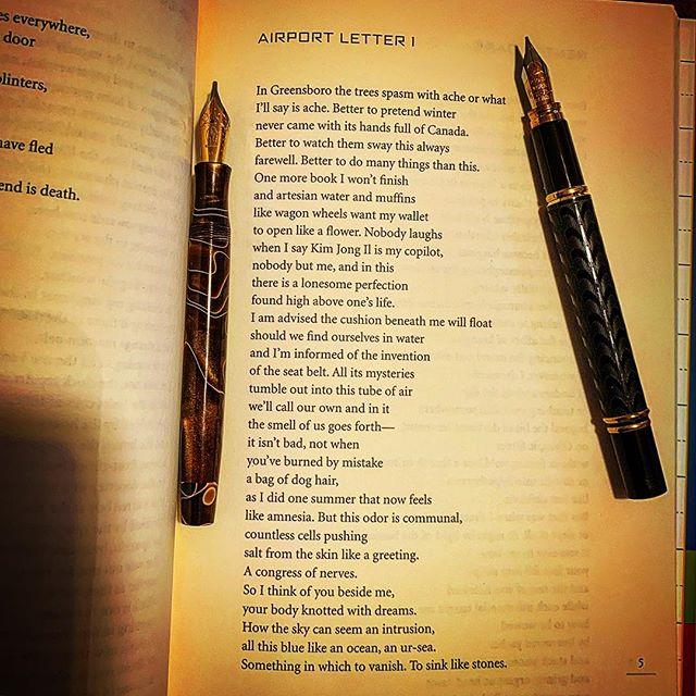 It's good luck to read a poem by Paul Guest just before AWP, this poem is from his book, My Index of Slightly Horrifying Knowledge. #poetryisnotdead #awp2019 @paulmguest #poemoftheday #poetry #poetrycommunity #poet #fountainpengeeks #cigaraficionado #airport #warrenwilsonmfa #poetryischurch #spokenwordpoetry #thewritinglife #literature #buythisbook #journaling #creativewriting #poetryisart #poetrycommunity #lovetowritepoems #lovetowrite #charlessimic #americanpoet #notebook #iowawritersworkshop