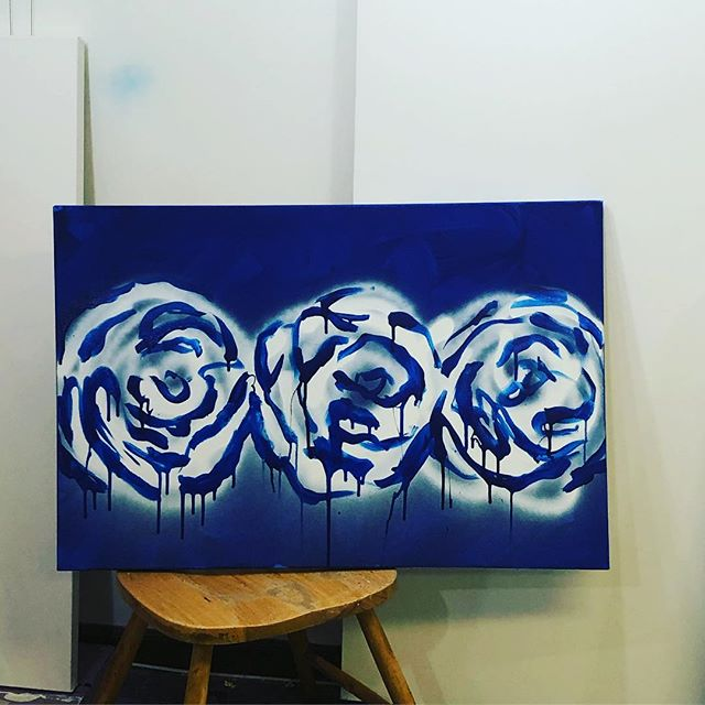 Flower commissions in bloom #art #painting #popart #love #blue #megancoonellyart