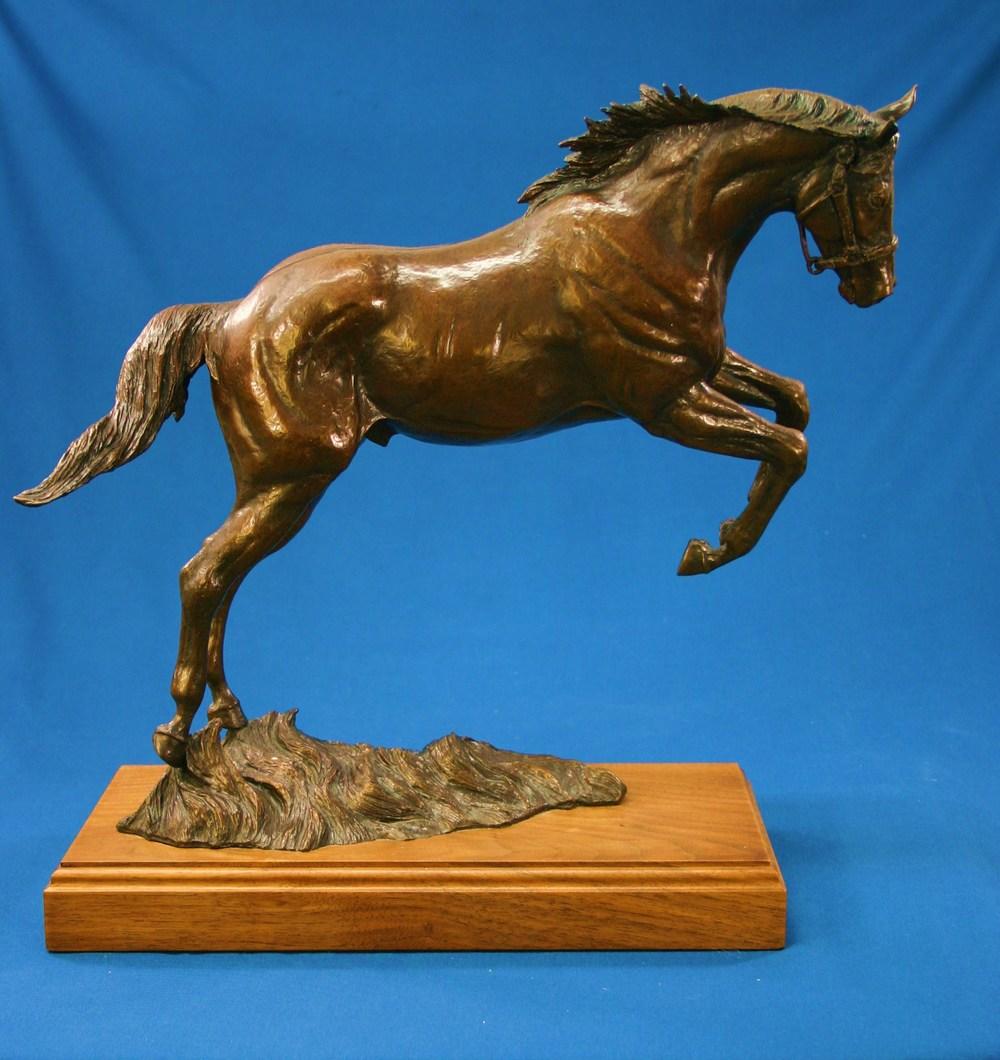 bronze sculpture-horse leaping-Feeling Good068.JPG