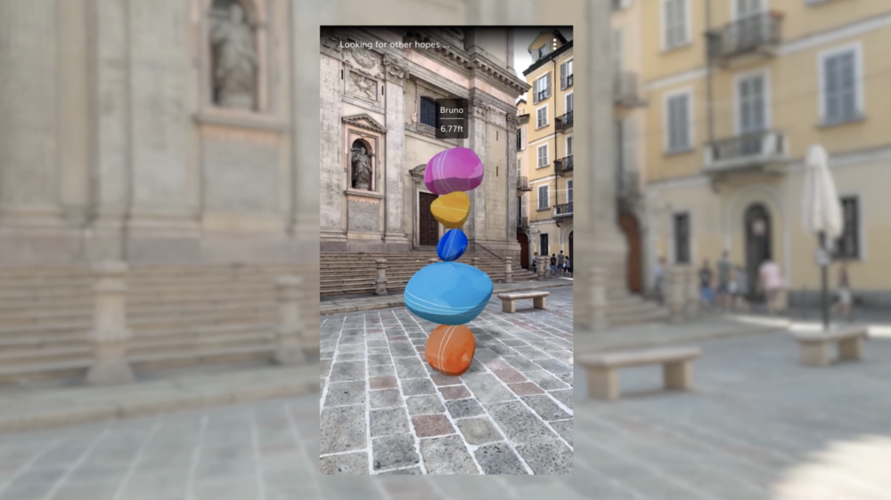 iOS/Android app: Hope sculpture placement
