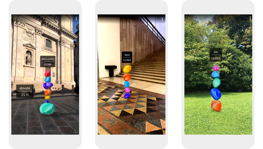 iOS/Android apps: Hope sculptures in different locations