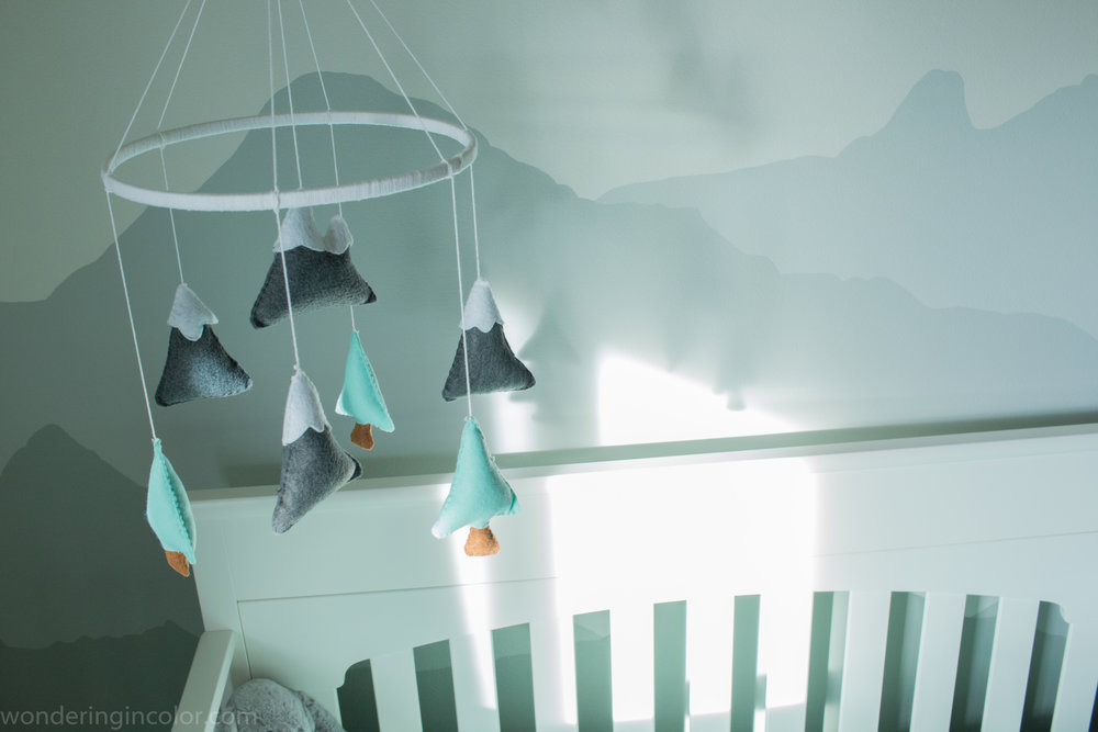 Pacific Northwest Themed Nursery mobile