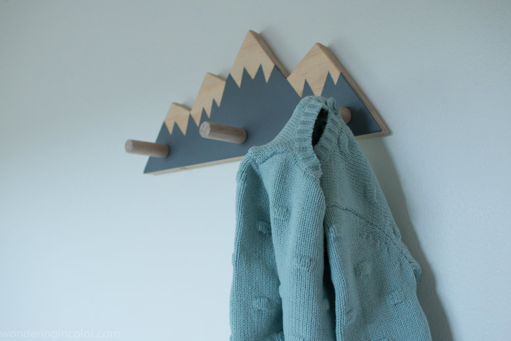 Pacific Northwest Themed Nursery mountain hooks