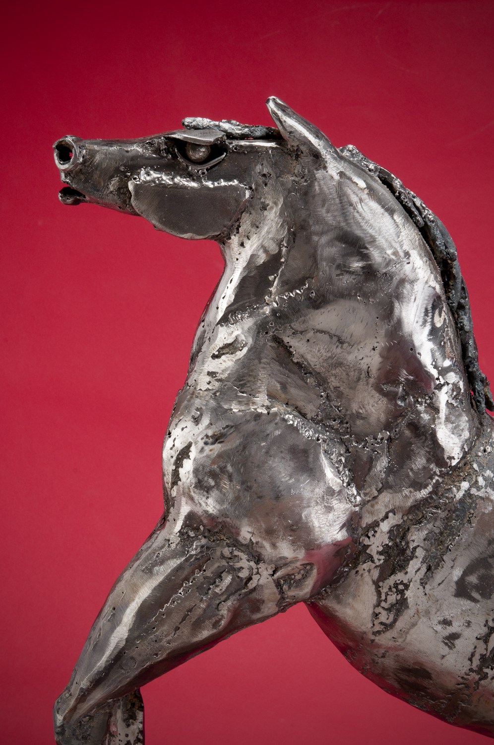 """""""Awakening"""" steel horse sculpture by Tolley Marney"""