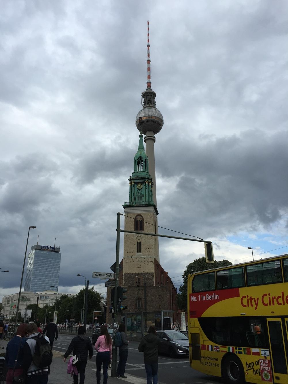 Fernsehturm Berlin-TV tower in Alexanderplatz