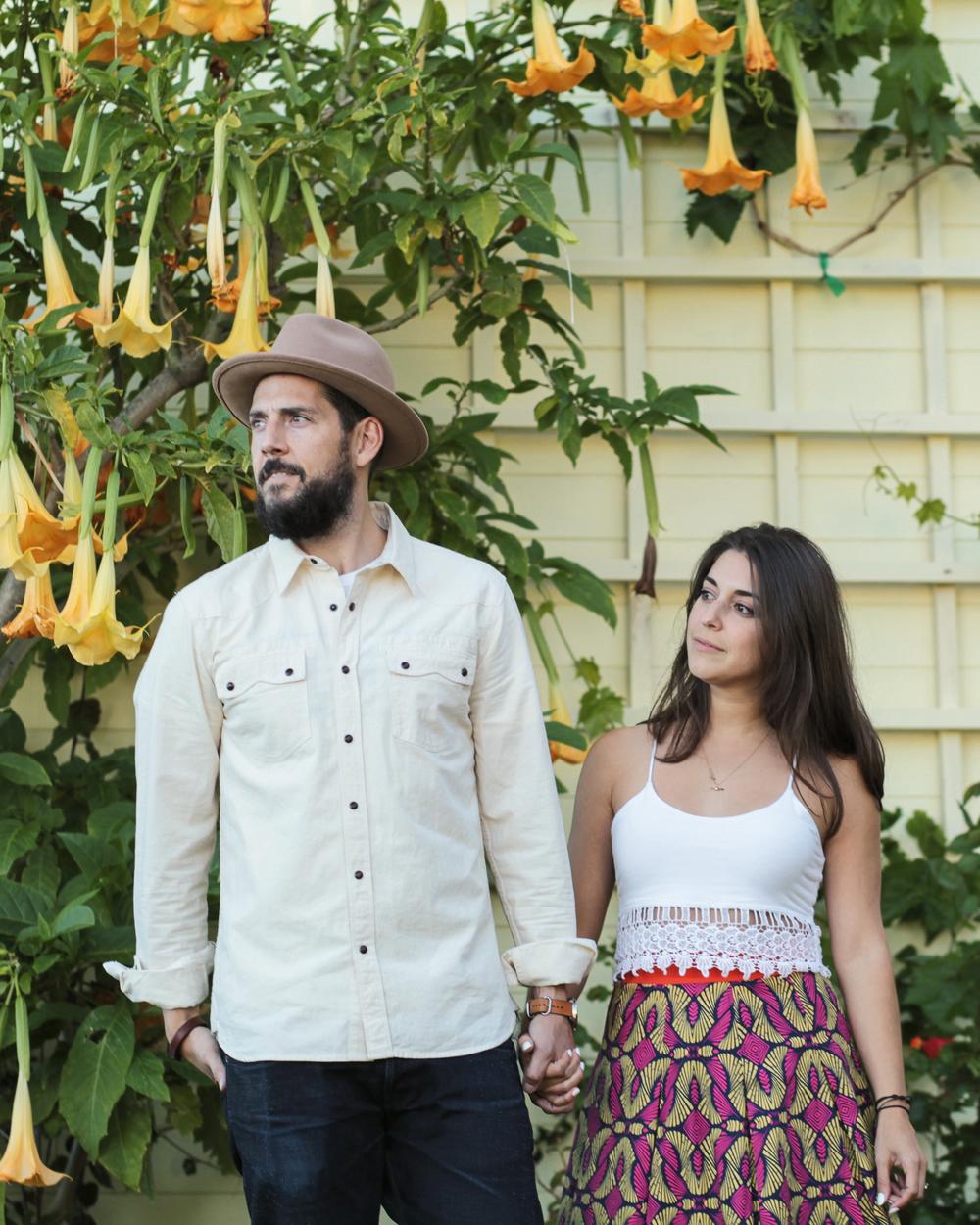 Freenote Cloth Modern Western Shirt| Yellow108 Luke Fedora | Pinko Skirt| Crop Top