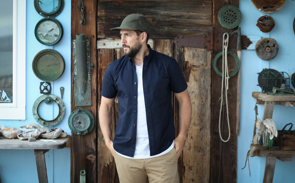 Elm Mira Hat   Welcome Stranger S/S   Taylor Stitch Khaki Shorts