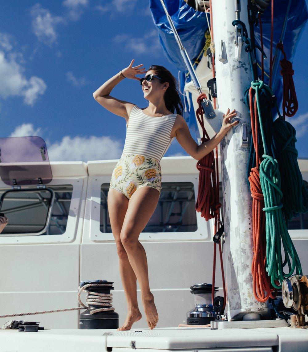 Seea, San Clemente, boat ride, one-piece, swimwear