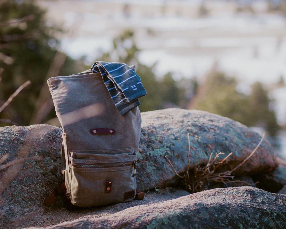 bradley mountain, camping, backpacks, tommy john