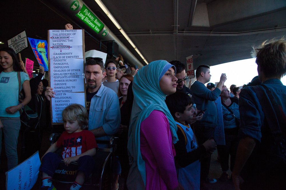 LAX, #NoMuslimBan Protest, 1.29.17