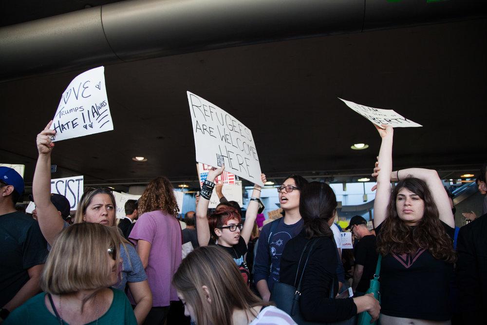 Los Angeles, LAX No Muslim Ban Protest 1.29.17 SYDNEY LOWE-0197.JPG