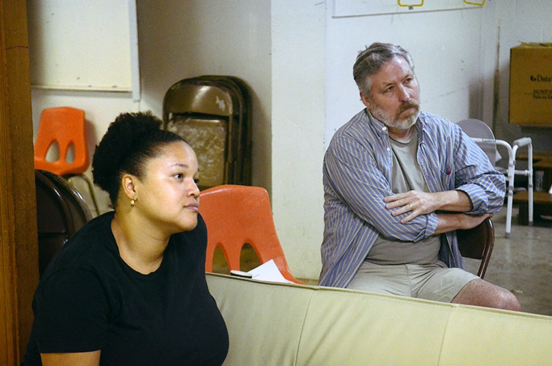 Jamila Curry and UNCG Professor John Gulley