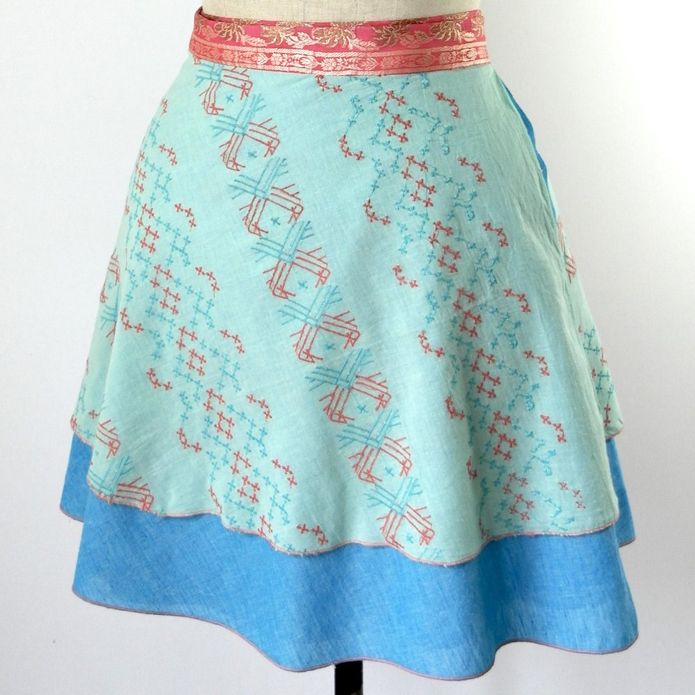 reversible wrap skirt