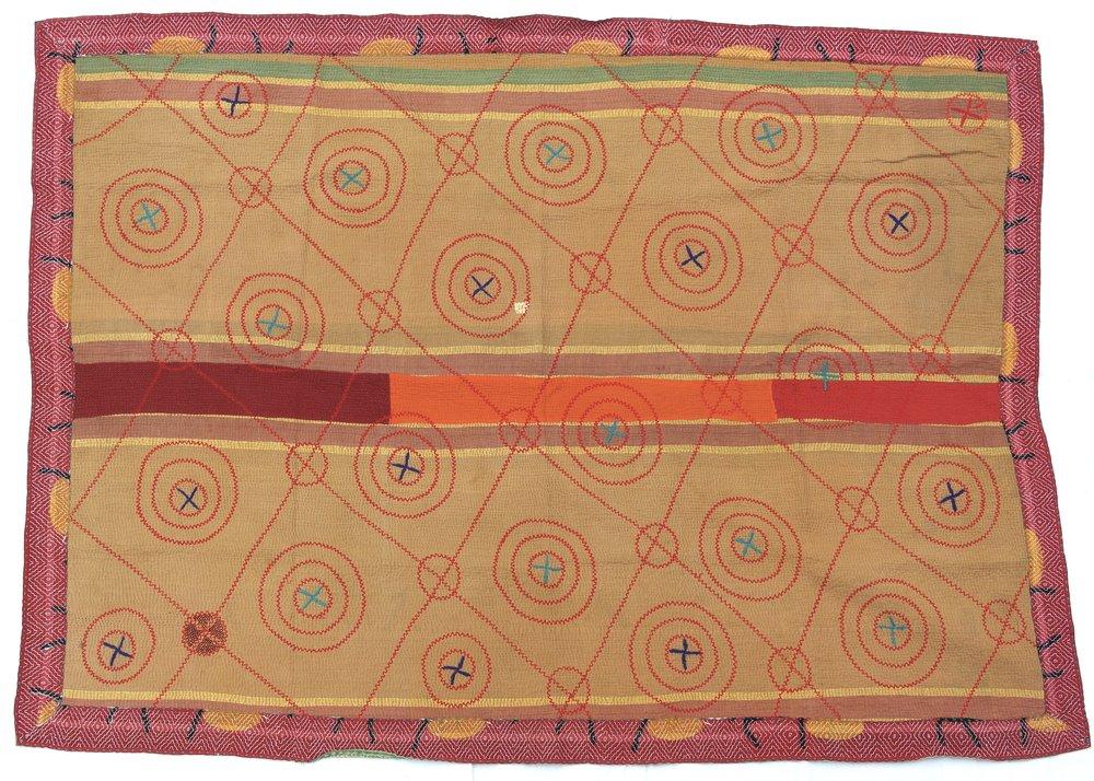 circles pattern kantha