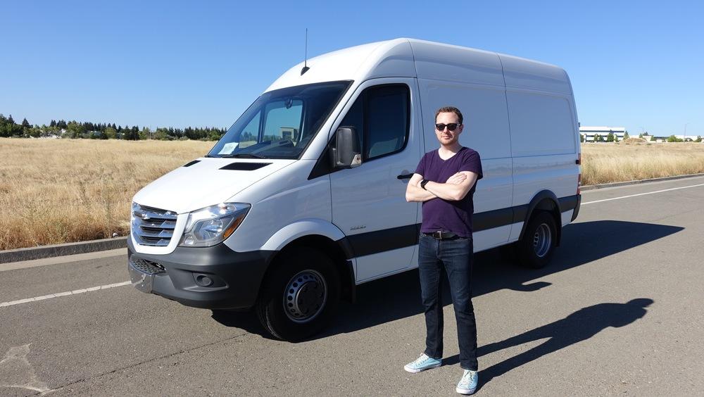 Aaron Scott and his van/house