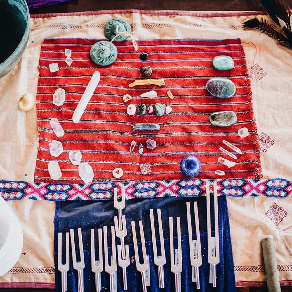 make your own medicine workshop, energy offerings, cacao ceremony, meditation, sound bath...to name just a few. -