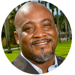 Desmond Meade  is a formerly homeless returning citizen who overcame many obstacles to eventually become the former State Director for Florida Live Free Campaign, President of the Florida Rights Restoration Coalition (FRRC), Chair of Floridians for a Fair Democracy, Chair of the Florida Coalition on Black Civic Participation's Black Men's Roundtable, and a graduate of Florida International University College of Law.   Full bio >>
