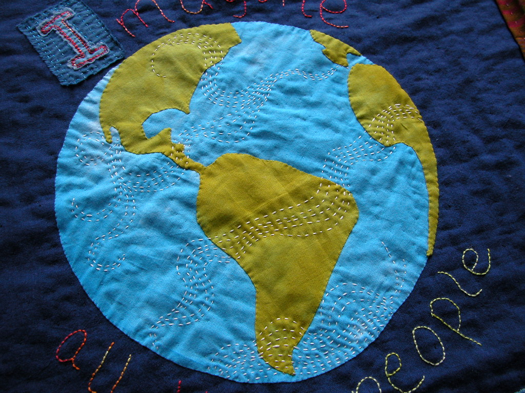 Imagine stitching on Earth
