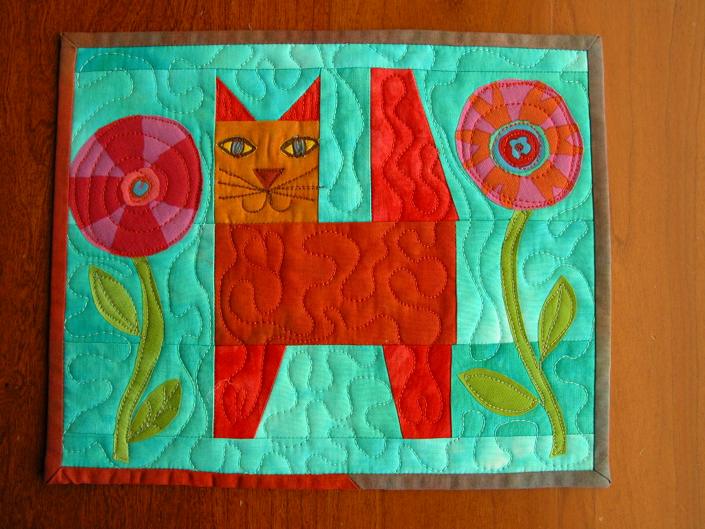Ginger's Garden mini quilt for AAQI