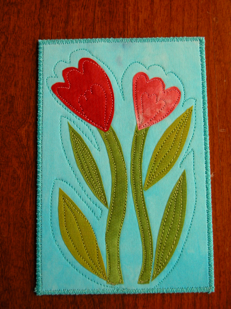 Tulips Fabric Postcard for SOQS