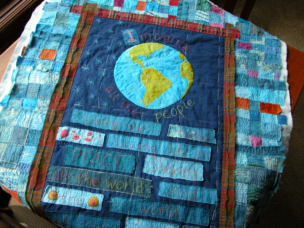 Imagine quilting in progress