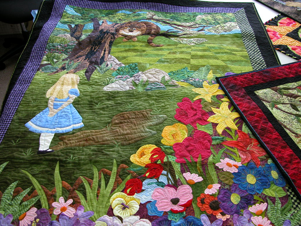 Pat Busby Alice in Wonderland quilts (4)
