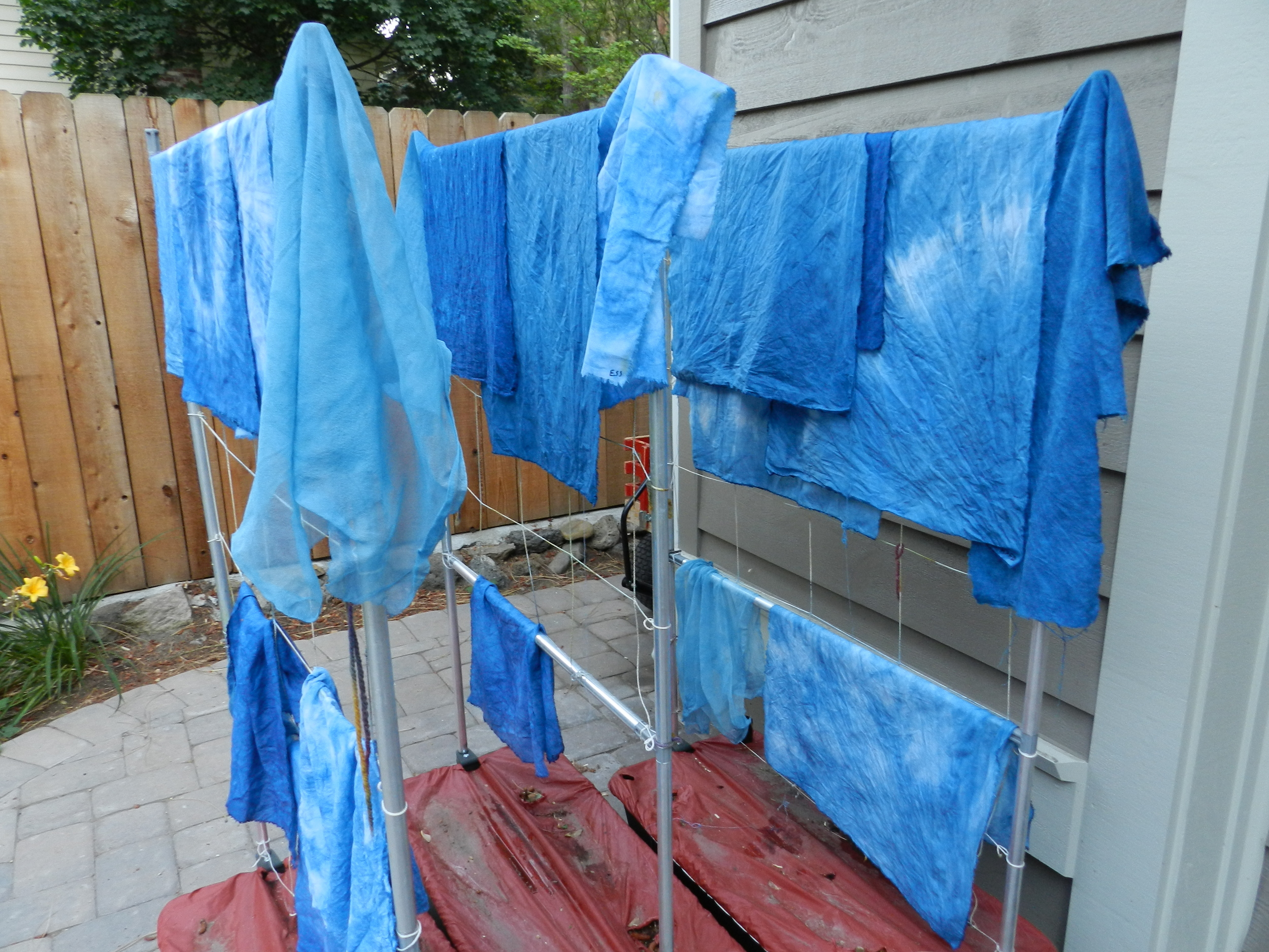 Indigo dyeing on the first day of Fall