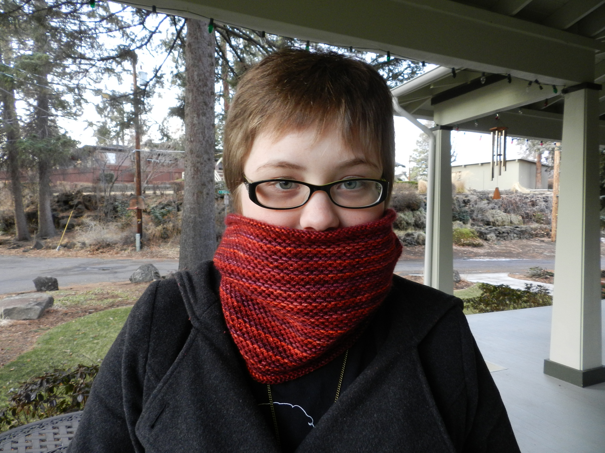 Chloe's honey cowl (5)