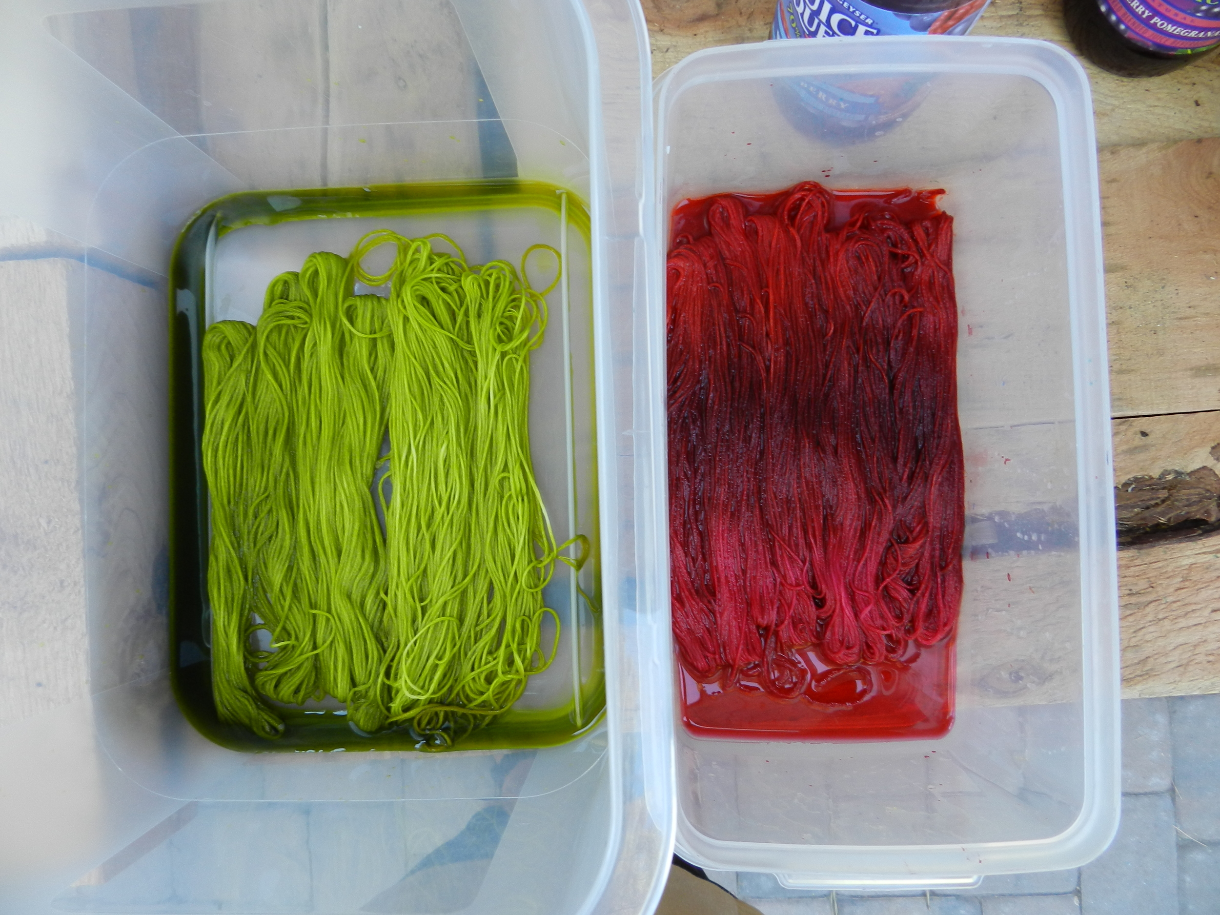 Thread dyeing